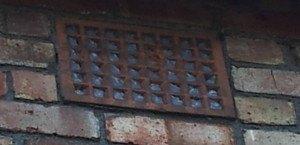 Air brick blocked 1